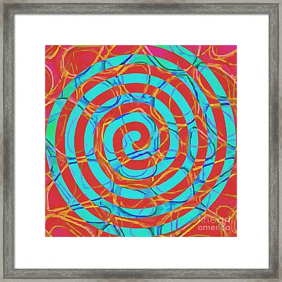 Spiral Abstract 1 Framed Print by Edward Fielding