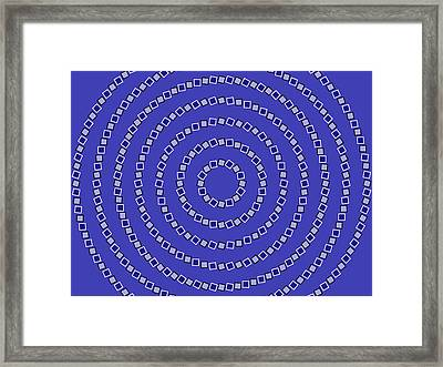 Spiral Circles Framed Print by Michael Tompsett