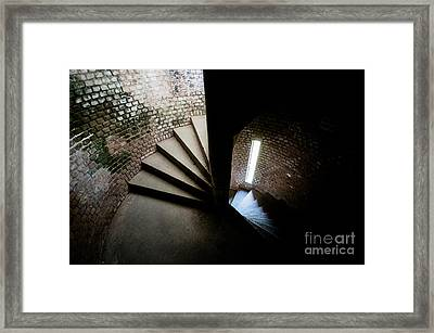 Spiral Staircase Inside Fort Jefferson Framed Print by Craig Hinton