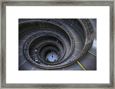 Spiral Staircase Framed Print by Maico Presente