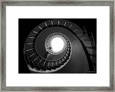 Spiral Staircase Framed Print by Todd Klassy