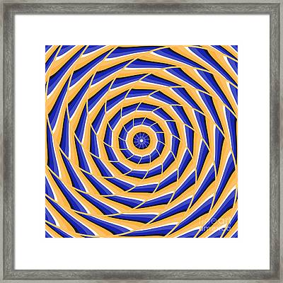 Spiral Twisting To Center Framed Print by Yurii Perepadia
