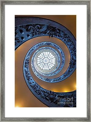 Spiraling Towards The Light Framed Print by Inge Johnsson