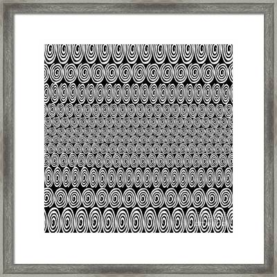 Spirals Black And White - Abstract Painting Framed Print by Edward Fielding