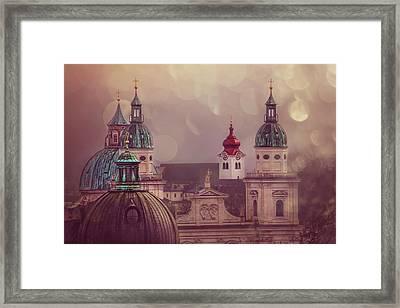 Spires Of Salzburg  Framed Print by Carol Japp