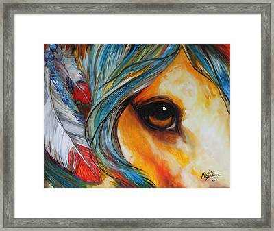 Spirit Eye Indian War Horse Framed Print by Marcia Baldwin