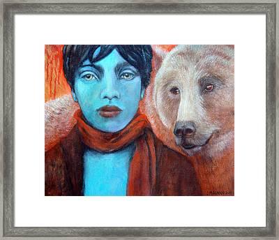 Spirit Helper Framed Print by Lorraine Marian Kenny