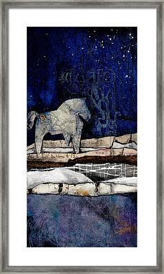 Spirit Horse Of Evening Splender Framed Print by Laura  Lein-Svencner