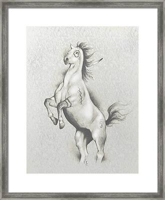 Spirit Horse Framed Print by Robert Martinez