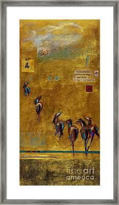 Spirit Horses Framed Print by Frances Marino