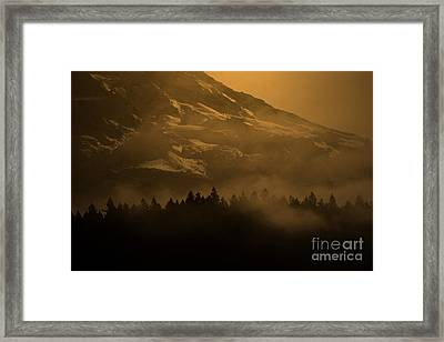 Spirit Of Chief Seattle Framed Print by C E Dyer