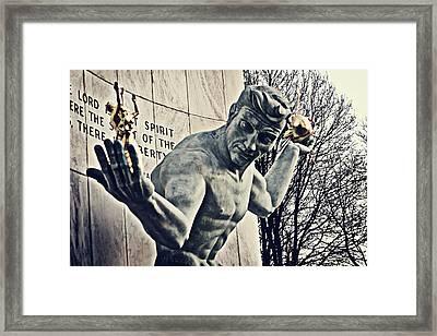 Spirit Of Detroit Framed Print by Alanna Pfeffer