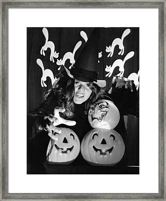 Spirit Of Halloween Framed Print by Underwood Archives