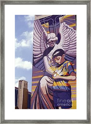 Spirit Of Healing Mural San Antonio Texas Framed Print by John  Mitchell
