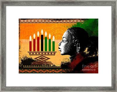 Spirit Of Kwanzaa Framed Print by Bedros Awak