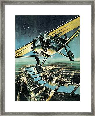 Spirit Of St Louis Framed Print by Wilf Hardy