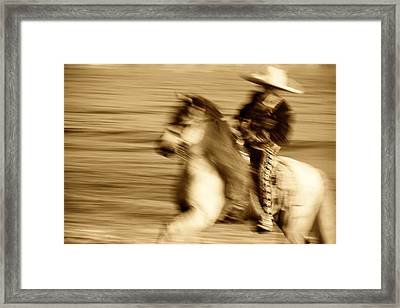 Spirit Of The Charro3 Framed Print by Nick Sokoloff