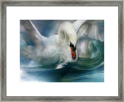Spirit Of The Swan Framed Print by Carol Cavalaris