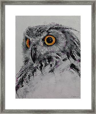 Spirit Owl Framed Print by Michael Creese