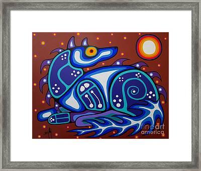 Spirit Wolf Framed Print by Jim Oskineegish