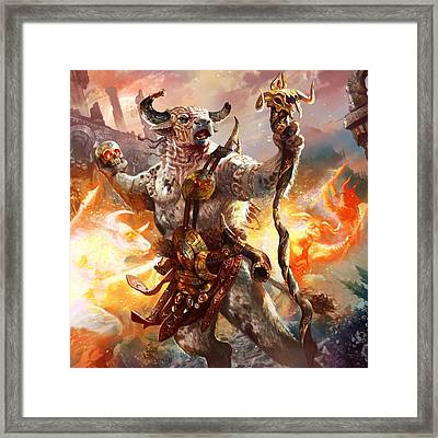 Spiritcaller Shaman Framed Print by Ryan Barger
