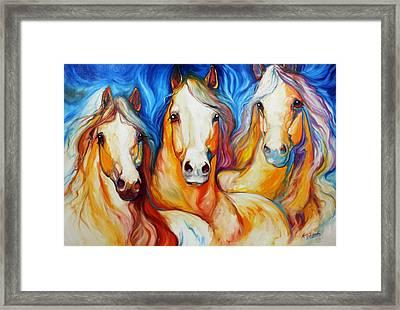 Spirits Three Framed Print by Marcia Baldwin