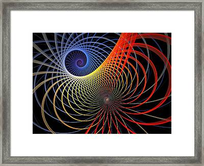 Spirograph Framed Print by Amanda Moore