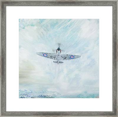 Spitfire   Ace Of Spades Framed Print by Vincent Alexander Booth