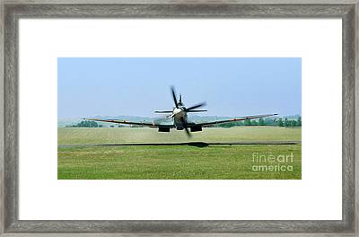 Spitfire Surprise   Close Up Framed Print by Martin At Gemini Pictures