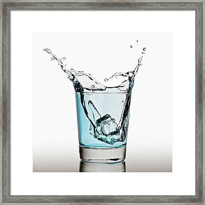 Splash Framed Print by Gert Lavsen