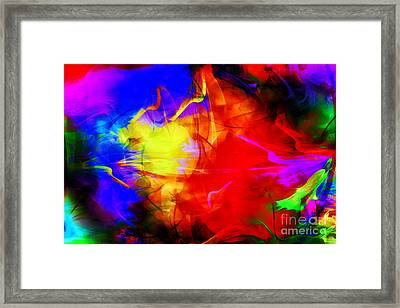 Splash Of Color Framed Print by Geraldine DeBoer