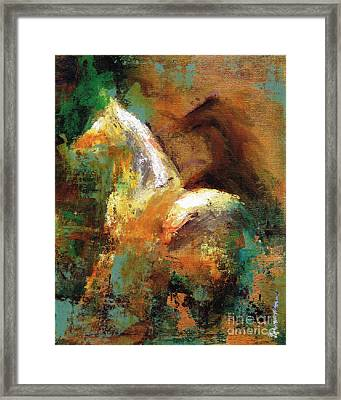 Splash Of White Framed Print by Frances Marino