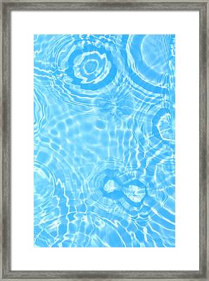 Splash Pattern Framed Print by Alex Bramwell