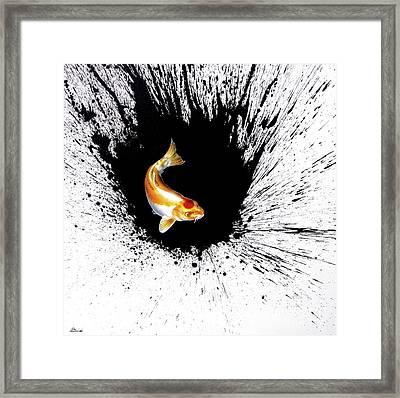 Splash Framed Print by Sandi Baker