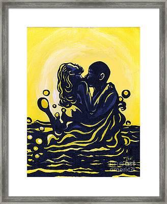 Splash Framed Print by Toni  Thorne