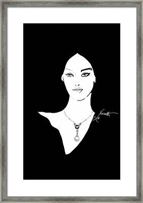 Splendidamente Perla Framed Print by Nadia La Moretti
