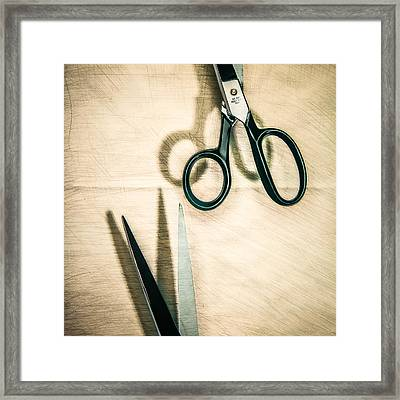 Split Forget Shears Framed Print by Yo Pedro