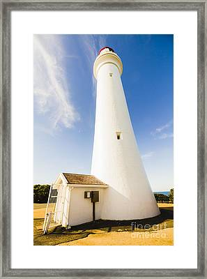 Split Point Lighthouse Framed Print by Jorgo Photography - Wall Art Gallery