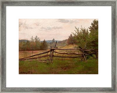 Split Rail Fence Framed Print by Alexander Helwig Wyant