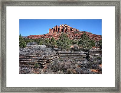 Split Rail Fence - Sedona - Arizona Framed Print by Nikolyn McDonald