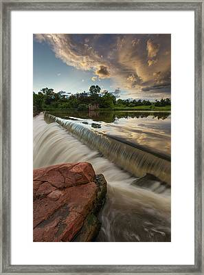 Split Rock Framed Print by Aaron J Groen