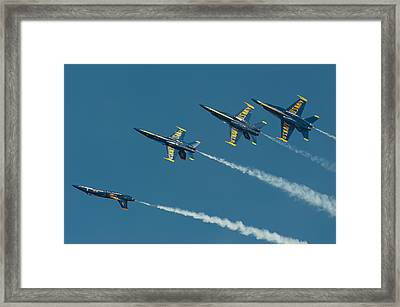Split Framed Print by Sebastian Musial