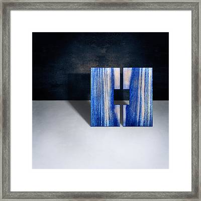 Split Square Blue Framed Print by YoPedro