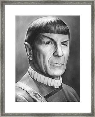 Spock Framed Print by Greg Joens