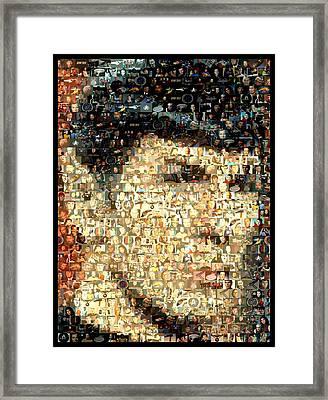 Spock Star Trek Mosaic Framed Print by Paul Van Scott