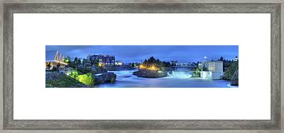 Spokane Falls Framed Print by Michael Gass