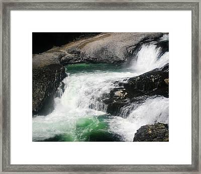 Spokane Water Fall Framed Print by Anthony Jones