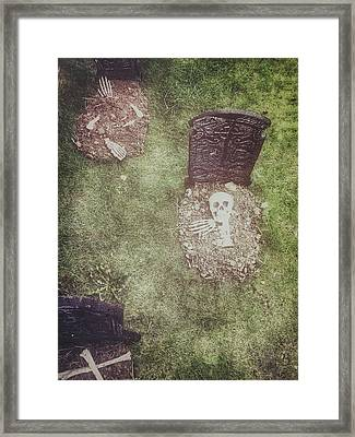 Spooky Grave Stones Framed Print by Tom Gowanlock