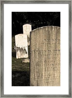 Spooky Tombstones. Framed Print by Robert Ponzoni
