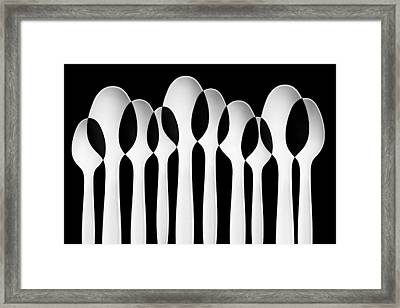 Spoons Abstract:  Forest Framed Print by Jacqueline Hammer